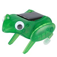 Wholesale 1Pcs Cute Solar Frog Toy for Kids Children Funny Novelty Solar Jumping Frog Toy Great Gift for Babys K5BO