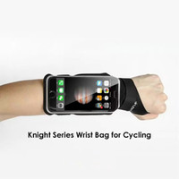 Wholesale New Cycling Bicycle Wrist Bag Top Lycra Ultra Comfort Wristband Pouch Bag Cycling Waterproof Arm Bag Headphone Outputs for Smartphones