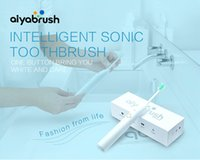 Wholesale Aiyabrush ultraSonic Electric Toothbrushes USB Rechargeable SpinBrush with Heads ZR501 waterproof ultrasound toothbrushes