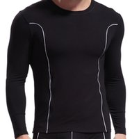 bamboo thermal underwear - Men Thermal Underwear WJ Tight O Neck Sport Long Sleeve Clothing Quick Dry Underwear Autumn Winter Mens Long Tops