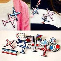 airplane badge - New Fashion Airplane Collar Multi designs Brooch Pins Women Gift Men Jewelry Aircraft Cartoon Plane Badge Accessories Br880