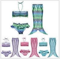 Wholesale 2016 New Baby Girls Mermaid Tail Bikini Swimsuit Kids Bathing Suits Children Swimming Costume Swimsuit Swimwear set years