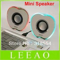 apple laptop speakers - Apple Shaped USB Powered Multimedia Speakers loudspeaker Speaker For PC Laptop Mp3 Phones p0645