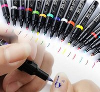 Wholesale 16 Colors Nail Art Pen D DIY Nail Art Decoration Polish Painting Dot Drawing UV Gel Design Beauty Nail Art Tools