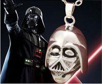 anakin skywalker vintage - 10pcs vintage silver plated alloy Star Wars Darth Vader Anakin Skywalker Sith Lord Dark Knight Head portrait pendant necklace men x204