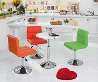 beauty shop chairs - Simple home bar chairs stool soft bag beauty nail shop tea lifting small child back rotation