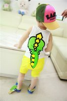 Cheap 2T-10T children dot chiffon skirts pants Best Christmas TuTu boy suit Summer Tank Tops