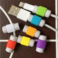 bag jacks - Silicone Cable Saver USB Charger Charging Cable Earphone Wire Cord Protector Universal For iPhone Plus iPad iPod Samsung with Bag