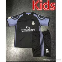 Wholesale Real Madrid Kids Jerseys child teens Shirt Benzema James Bale Ronaldo Spanish league rugby jerseysecond Away Home