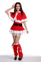 act socks - Christmas Decoration Santa Claus Cosplay Dress Christmas Especial Costumes Holiday Acting Clothes Sex Dress Hat Gloves Free Size