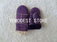 Wholesale Baby mittens spain merino double face sheepskin mittens kids mittens kids gloves