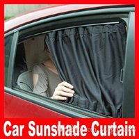aluminum blinds - 2pcs New cm car curtain Black Color Cotton Mesh Materail aluminum alloy car curtain sun shading Automatic Blinds
