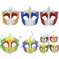 beauty school - Halloween Plastic Masks for Adult Fashion Party Venetian PVC Lady Masquerade Sharp Edges Painted Mask Beauty Mask Cosplay Party Ball Costume