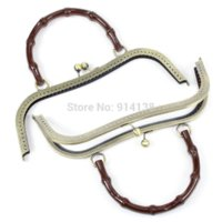 antique coffee cans - 5 Metal Frame Kiss Clasp Arch For Purse Bag Antique Bronze Coffee Acrylic Handle cm x cm Can Open Size cm x cm B01691