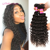 achat en gros de meilleurs grossistes de cheveux indiens-Best Cheap Deep Curly Hair Wholesalers Raw Indian Deep Wave Weave Extensions de cheveux humains 7A 3 Bundles Indian Wavy Dyeable Hair Bulk Wholesale