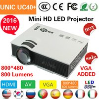 Wholesale Newest Original UNIC UC40 Mini Pico portable D Projector HDMI Home Theater beamer multimedia proyector Full HD P video projector LCD