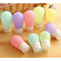 Wholesale Round Portable Silicone Travel Bottles Empty Squeezable Lotion Shampoo Container
