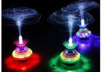 Wholesale Christmas Halloween Toys UFO light toy crown fiber optic electric flash music LED beyblade drift
