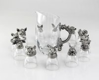 antique bar supplies - 5 cm Bar Supplies Animal Zodiac Wine Glasses set Chinese Animal Wine Glasses set Hand made Wine Glasses set Home Decoration