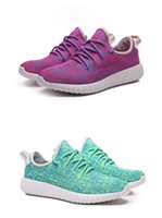 Cheap Women's Yeezy 350 Boost Running Shoes Peach And Sky Blue Fashion and High Quality Sports Outdoor Shoes Comfortable