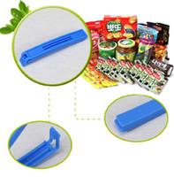 Wholesale 6PCS Food Fresh Plastic Large Food Bag Storage Sealing Clips Ziplock Clip E00099 CAD