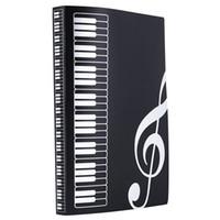Hoja de música Carpeta de archivo de plástico A4 tamaño 40 bolsillos-Negro