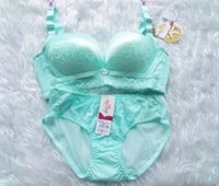 Wholesale Bra sets no rims underwear sexy deep v lace small chest gathered bra and adjustable little ladies bra set