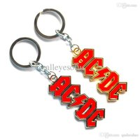 Fashion acdc gifts - Classical POP Band Souvenirs Gifts ACDC Pendant Keychain Fashion Zinc Alloy Key Buckle Chain MV529