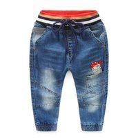 Wholesale 2016 kids clothes kids clothing boys clothing boys clothes autumn Boys pirates patch convergent washed denim trousers