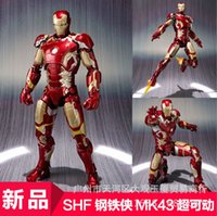 bandai car - 2016 new hot Bandai Avengers alltronic era Iron Man IRON MAN MK42 Mark hand ornaments