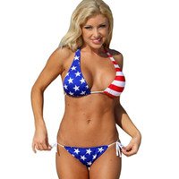 american flag country - Beach leisure sexy two piece swimwear American flag countries gathered fission swimsuit bikini spa club party