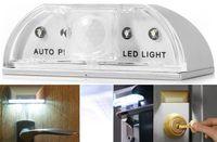 Rechargeable Battery auto door sensor - Longlife Home Door LED PIR Infrared Detection Motion Sensor Light Lamp Auto PIR Sensor LED Lights White Color