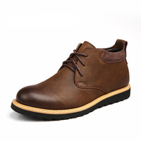Wholesale Waterproof Boots Men Leather Autumn Casual Lace Up Ankle Boots Western Winter Mens Shoes Fashion British Dress Boots