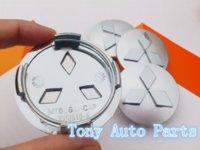 Wholesale 60mm Mitsubishi car emblem for Outlander Lancer EX Wheel Center Hub Caps Wheel Dust proof badge covers