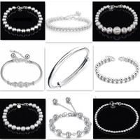 bead gift items - 2016 Fashion Jewelry Silver Charms Bracelets For Women Men High Quality Item Hollow Beads Bracelets Mix Styles Top Quality