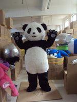 Wholesale Cartoon Head Costume - Wholesale-Hairy giant panda mascot costume China giant panda cartoon costume panda head costumes free shipping