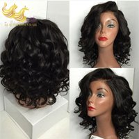 best half wigs - Brazilian Body Wave Human Hair Wigs Virgin Best Beyonce s Hairstyle Lace Front Wigs Natural Black Full Head Lace Hair Extensions