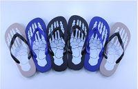 Wholesale 2016 Men Slippers Fashionable Skeleton Flip Flops Summer Sandals Casual Beach Sandal Flat Shoe Skidproof Flip Flops