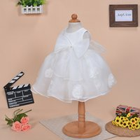 Wholesale 2017 Newest Baby Girl Dress Newborn Baby Girl Clothes Princess Veil Dress baby Princess Dress Three Piece white color hot sale