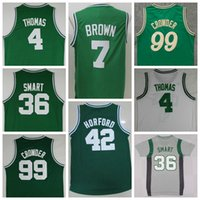 al jerseys - Sale Jaylen Brown Uniforms Isaiah Thomas Al Horford Jersey Shirt Marcus Smart Jae Crowder Christmas Throwback Green White Gray