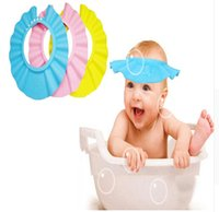 Wholesale Adjustable EVA Soft Baby Shampoo Shower Cap Baby Care Bath Protection For Kids bath cap Shower Caps