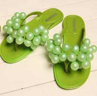 Wholesale 2016 summer selling authentic Korean grape slippers shoes beach flip flops household