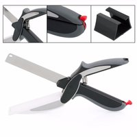 aluminum alloy cutting - 2016 in Kitchen Smart Scissors Knife Set With Mini Cutting Board Clever Cutter
