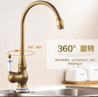 Wholesale Antique bronze finishing kitchen faucets kitchen tap basin faucets single hand hot and cold faucet