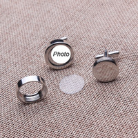 Wholesale high quality wedding cufflinks with your names or wedding photos on the cufflinks copper material pairs per