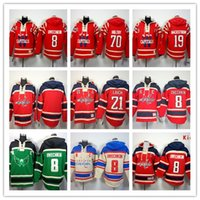 backstrom jersey - Stitched WCapitals Hoody Ovekhkin Backstrom Holtby hockey Kids men Red Green Cream Jerseys Ice Jersey Hoodie Mix Order
