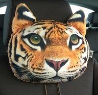 Wholesale 30 cm Creative Cartoon cat Car Seat Neck Rest Cushion Headrest car Pillow PP cotton core and Active carbon bag HJIA896