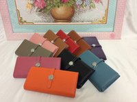 Wholesale M112 Genuine leather wallet purse high grade quality multi color fashion luxury stylish brand designer sale promotional discount