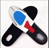 Wholesale 2 size KKA64 Women Men Gel Orthotic Sport Running Insoles Insert Shoe Pad Arch Support Cushion with deep heel Gel Insole