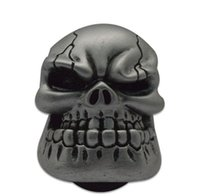 Wholesale Manual Gear Stick Shift Shifter Lever Knob Wicked Carved Sliver Skull pomo marches fastshipping